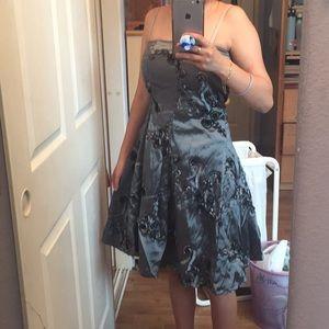 Dark Grey Floral Dress